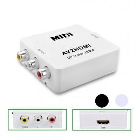 Mini Composite RCA AV to HDMI Converter Upscaler 720 1080p