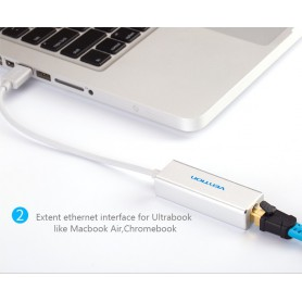 Vention, USB 2.0 - 10/100Mbps Ethernet LAN Adapter, Netwerk adapters, V008, EtronixCenter.com