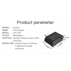 Vention - USB 2.0 naar Micro USB OTG Adapter Converter - USB adapters - V009-B www.NedRo.nl