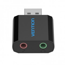 Vention - USB externe geluidskaart naar 3.5mm audio microfoon AUX adapter - Audio adapters - V013-B www.NedRo.nl