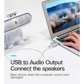 Vention - USB externe geluidskaart naar 3.5mm audio microfoon AUX adapter - Audio adapters - V013-Z www.NedRo.nl
