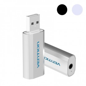 Vention, 3D USB External Sound Card to 3.5mm Audio Aux Mic Adapter, Audio adapters, V014-CB, EtronixCenter.com