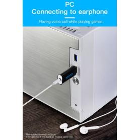 Vention - 3D USB externe geluidskaart naar 3.5mm audio microfoon AUX adapter - Audio adapters - V014-B www.NedRo.nl