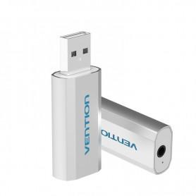 Vention - 3D USB externe geluidskaart naar 3.5mm audio microfoon AUX adapter - Audio adapters - V014-Z www.NedRo.nl