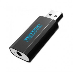 Vention, OMTP/CTIA USB External Sound Card to 3.5mm Audio Aux Mic Adapter, Audio adapters, V015, EtronixCenter.com