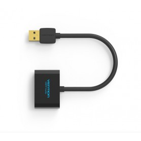 Vention - OMTP USB External Sound Card to 3.5mm Audio Aux Mic Adapter - Audio adapters - V016 www.NedRo.us