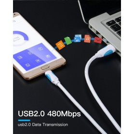 Vention, USB 2.0 to USB Type-C 3.1 Data Cable, USB 3.0 cables, V019-CB, EtronixCenter.com