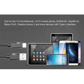 Vention, Cablu de date USB 2.0 la USB de tip C - Negru, Cabluri USB la USB C, V020-CB, EtronixCenter.com