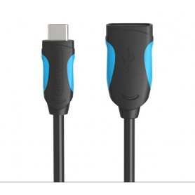 Vention, Cablu de date USB 2.0 Female la USB de tip C - Negru, Cabluri USB 3.0, V021-CB, EtronixCenter.com