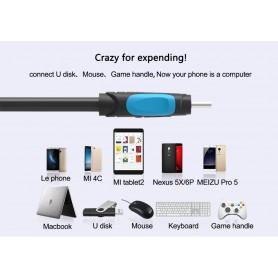 Vention - Cablu de date USB 2.0 Female la USB de tip C - Negru - Cabluri USB 3.0 - V021-B25 www.NedRo.ro