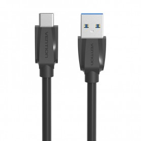 Vention, USB 3.0 naar USB Type-C datakabel - Zwart, USB 3.0 kabels, V022-CB, EtronixCenter.com