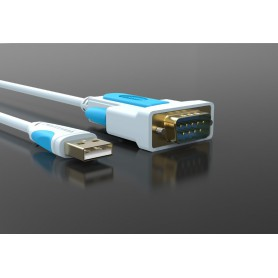 Vention - USB 2.0 to DB9 RS232 Cable Serial Cable USB COM Port DB9 Pin Cable Adapter - RS 232 RS232 adapters - V023-3M www.Ne...