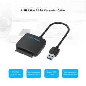Vention - 2.5 Inch High Speed Sata la USB 3.0 pentru HDD SSD - Adaptoare SATA si ATA  - V029-CB www.NedRo.ro