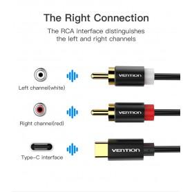 Vention - USB Type-C naar RCA Audio Line Kabel Adapter - USB naar USB C kabels - V030-100 www.NedRo.nl