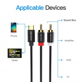 Vention - USB Type-C naar RCA Audio Line Kabel Adapter - USB naar USB C kabels - V030-CB www.NedRo.nl
