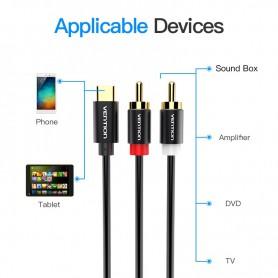 Vention - Adaptor Cablu audio Line USB Tip C la RCA - Cabluri USB la USB C - V030-100 www.NedRo.ro