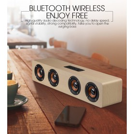 NedRo - 12W W8 Bluetooth v4.2 Speaker 3D MP3 Aux TF - Speakers - AL173-CB www.NedRo.us