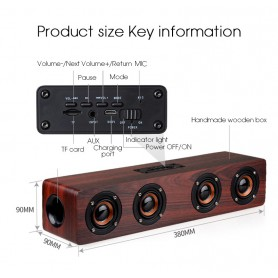 NedRo, 12W W8 Bluetooth v4.2 Speaker 3D MP3 Aux TF, Speakers, AL173-CB, EtronixCenter.com