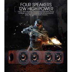 NedRo, 12W W8 Bluetooth v4.2 luidspreker 3D MP3 Aux TF, Luidsprekers, AL173-CB, EtronixCenter.com