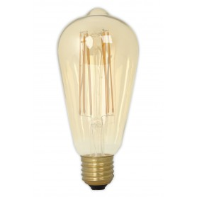 Calex - E27 LED LongFilament Rustik Lamp 240V 4W 320lm ST64, Gold 2100K Dimmable - Vintage Antique - CA0453-1x www.NedRo.us