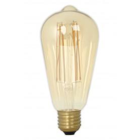 Calex - E27 Calex LED volglas Longgloeidraad Rustik Lamp 240V 4W 320lm ST64, Goud 2100K Dimbaar - Vintage Antiek - CA0453-CB ...