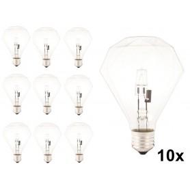 Calex - E27 230V 42W Halogeen diamant lamp - Kristalhelder - Halogeenlampen - CA0354-10x www.NedRo.nl