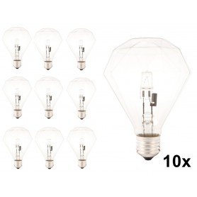 Calex - E27 230V 42W Halogen diamond lamp - Crystal clear - Halogen Lamps - CA0354-CB www.NedRo.us