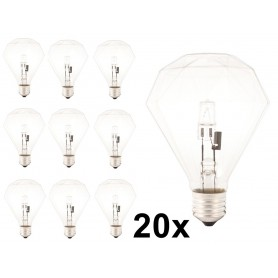 Calex - E27 230V 42W Halogeen diamant lamp - Kristalhelder - Halogeenlampen - CA0354-20x www.NedRo.nl