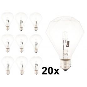 Calex - E27 230V 42W Halogeen diamant lamp - Kristalhelder - Halogeenlampen - CA0354-CB www.NedRo.nl