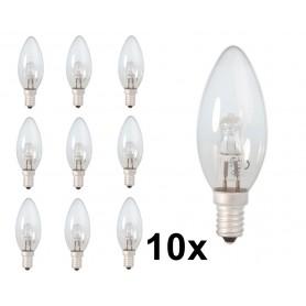 Calex - E1428W 230V Halogeen B35 kaarslamp helder glas - Halogeenlampen - CA0347-10x www.NedRo.nl
