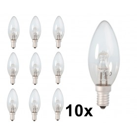 Calex - E14 28W 230V Halogen B35 candle shape lamp clear glass - Halogen Lamps - CA0347-10x www.NedRo.us