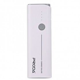PRODA, PRODA Jane 10000mAh PowerBank 1A / 1.5A PPL-9 White, Powerbanks, H60002, EtronixCenter.com