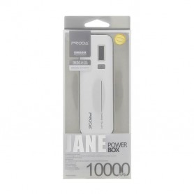PRODA - PRODA Jane 10000mAh PowerBank 1A / 1.5A PPL-9 White - Powerbanks - H60002 www.NedRo.us