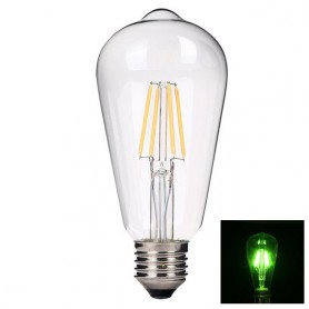 NedRo - 2 pieces Vintage E27 4W 185-240V ST64 LED Filament Glass Lamp - Vintage Antique - AL176-GR www.NedRo.us