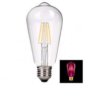 NedRo - 2 Stuks Vintage E27 4W 185-240V ST64 LED-lamp met Filament glas - Vintage Antiek - AL176-PI www.NedRo.nl