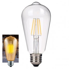NedRo - 2 pieces Vintage E27 4W 185-240V ST64 LED Filament Glass Lamp - Vintage Antique - AL176-WW www.NedRo.us
