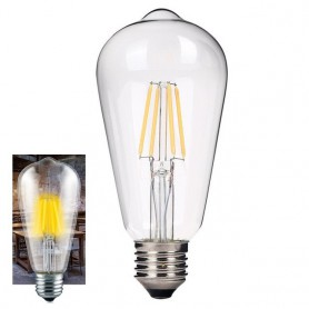 NedRo - 2 pieces Vintage E27 4W 185-240V ST64 LED Filament Glass Lamp - Vintage Antique - AL176-CW www.NedRo.us