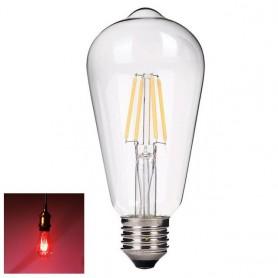 NedRo - 2 Stuks Vintage E27 4W 185-240V ST64 LED-lamp met Filament glas - Vintage Antiek - AL176-RE www.NedRo.nl