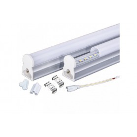 NedRo - LED T5 Connectable FL fixture 57cm 240V FL-tube 11W 6500K - Cold White - TL and Components - AL177 www.NedRo.us
