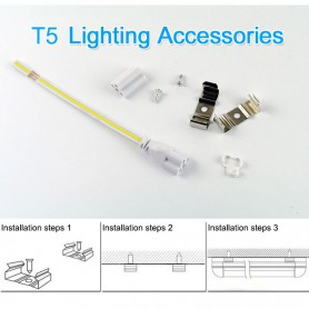NedRo, LED T5 Connectable FL fixture 57cm 240V FL-tube 11W 6500K - Cold White, TL and Components, AL177