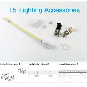 NedRo - LED T5 meubelarmatuur 57cm 185-240V TL 11W 6500K - Koud Wit - TL en Componenten - AL177 www.NedRo.nl