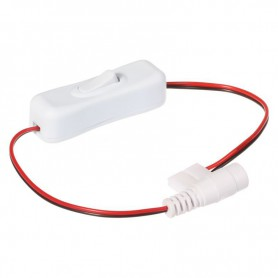 NedRo, 10mm 2-Pin Single Color LED Strip DC Female Wire Switch 12V 24V, LED Accessories, LSCC25-CB, EtronixCenter.com