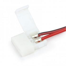 NedRo - 10mm 2-Pin Single Color LED Strip DC Female Wire Switch 12V 24V - LED Accessories - LSCC25 www.NedRo.us