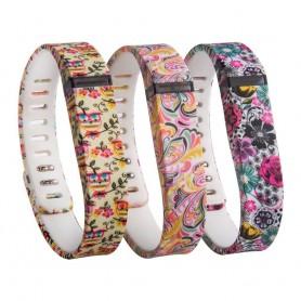 OTB - FloralFlex TPU armband voor Fitbit Flex - Armbanden - AL180 www.NedRo.nl