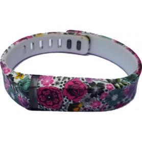 NedRo - FloralFlex TPU armband voor Fitbit Flex - Armbanden - SF1-S www.NedRo.nl