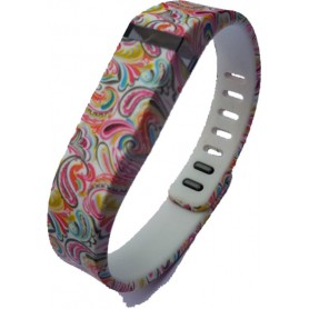 NedRo - FloralFlex TPU armband voor Fitbit Flex - Armbanden - SF2-S www.NedRo.nl