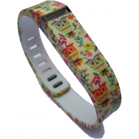 NedRo - FloralFlex TPU armband voor Fitbit Flex - Armbanden - SF3-S www.NedRo.nl