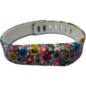 NedRo - FloralFlex TPU armband voor Fitbit Flex - Armbanden - SF4-L www.NedRo.nl