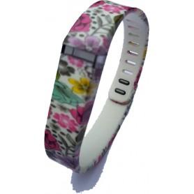 NedRo - FloralFlex TPU armband voor Fitbit Flex - Armbanden - SF5-S www.NedRo.nl