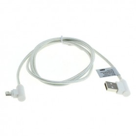 OTB - 1m Cablu de date micro-USB din nylon / conector la 90 de grade împletit - Cabluri USB la USB C - ON5011 www.NedRo.ro
